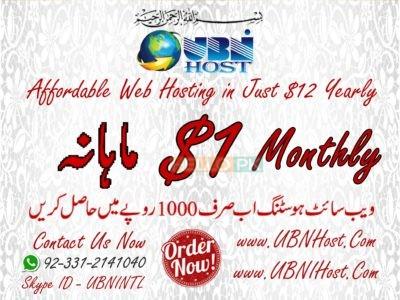 Affordable 1 GB website hosting and domain registration