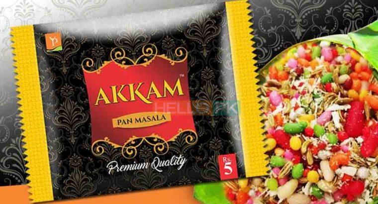 AKKAM PAN MASALA ! ! ! Retailer, wholesaler, distributor required