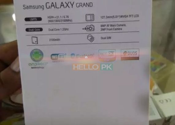 Samsung Galaxy Grand i9082 Box Pack with Free Delivery