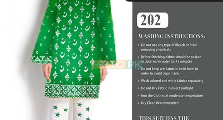 Special Azadi Collection Fabric Lawn 2pc Shirt & Trousers