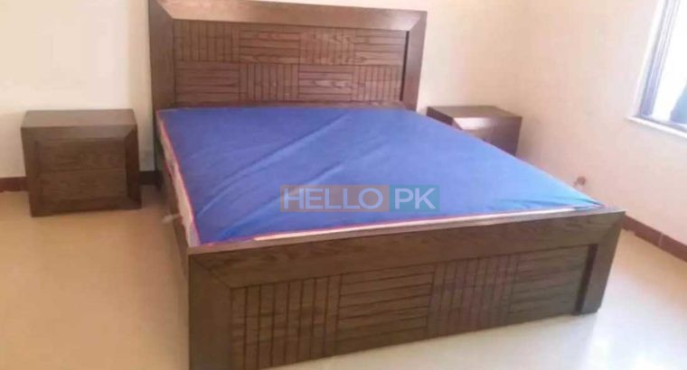 Decent King size Bed & side Tables,Dressing & Mirror Keekar Wood Frame solid thick Keekar wood structure