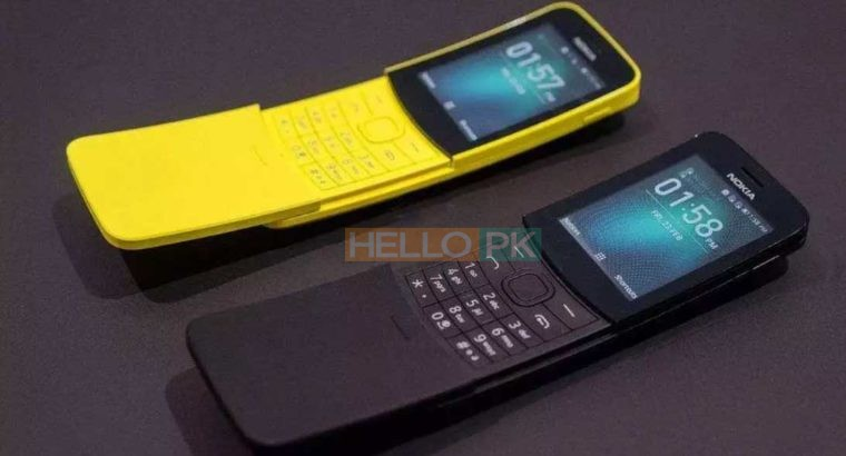 Nokia 8110 (2018 Model) Box Pack Available   Free Home Delivery,DUAL SIM,Long Life Original Nokia battery