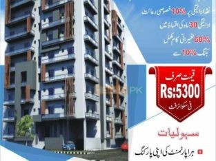 1 & 2 Bed Luxury Apartments On Easy installment.Separate Car Parking,Full Security System.Near Islamabad Airport