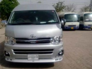 Travel With Our New Hiace 2018 Model Available For Trip And Tours To Anywhere In Pakistan