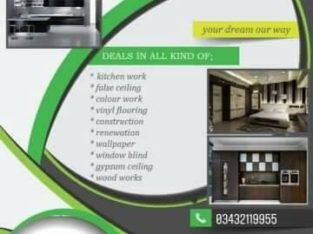 Complete interior renovation solution.Best interior renovation service in Karachi