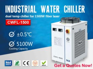 Laser water cooled system for 1500W Fiber Laser Machine
