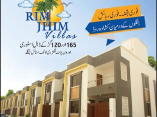 RIM JHIM Villas.120/165 yrd Double Story/One Unit Luxury Bungalow Near Malir Cantt