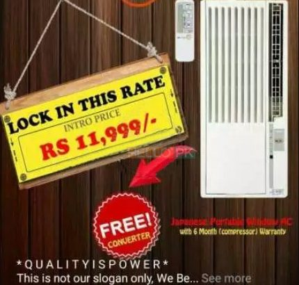 Window Mounted Japanese Imported Ship AC with converter Cheapest Rates