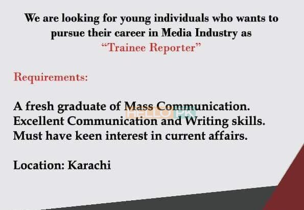 We are Hiring.Career in Media industry As(Trainee REPORTER)TV Channel Jobs Apply Now