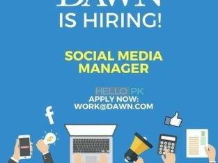 DAWN TV CHANNEL IS HIRING FOR SOCIAL MEDIA MANAGER..APLLY RIGHT NOW
