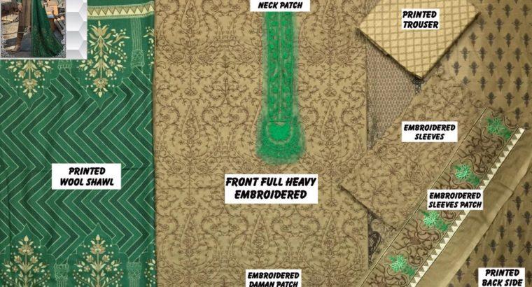Maria.b 1104 replica Fabric Khaddar 3pc.Money Back Quality Guarantee