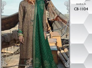 Maria.b 1104 replica Fabric Khaddar 3pc.Money Back Quality Guarantee