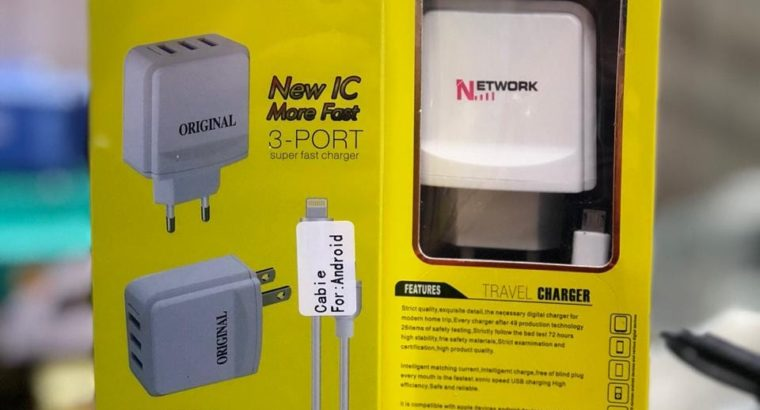 Network Fast Charger.1 Year Warranty.Cash On Delivery