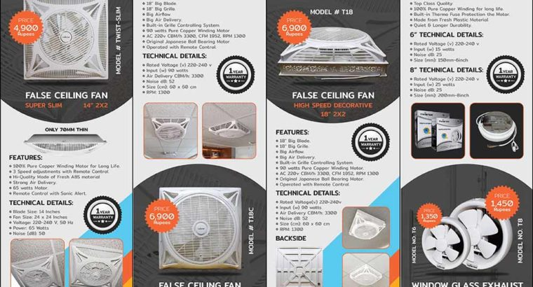 Best Quality False Ceiling Fans and Exhaust Fans