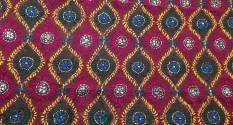 Beauty full Chiffon phulkari dupatta