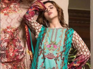 Khaddar Embroidered 3 Piece Suit With Shawl(Rana Arts).Delivery all over Pakistan