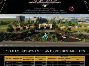 TAJ RESIDENCIA.5 7 10 12 marla 1 Kanal Plots Two Years Easy Installments