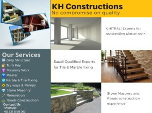 Best Construction and Renovation Services in Islamabad & Rawalpindi