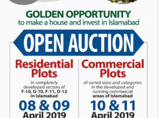 OPEN AUCTION Residential/Commercial PLOTS IN ISLAMABAD.Golden Chance