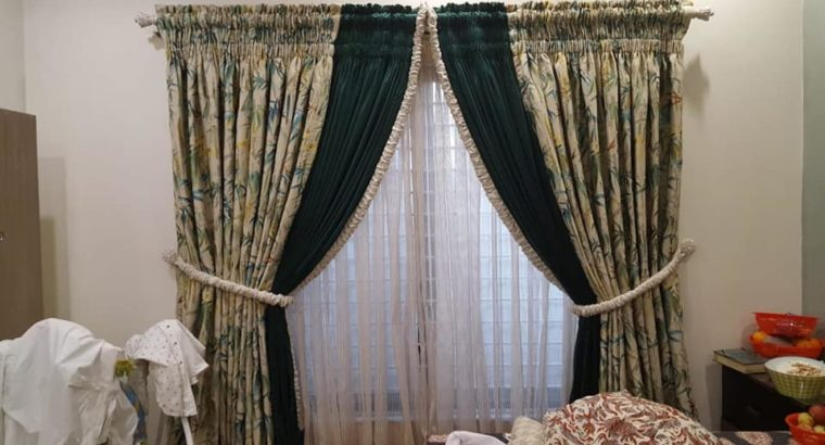 New Curtains Arrival.Different Colours & Designs Available At Your door step.All Over Pakistan