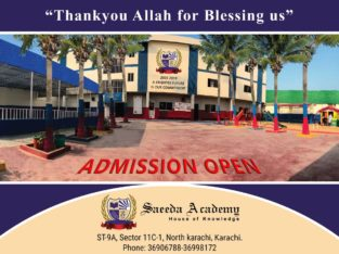 Admission Open Limited Seats Saeeda Academy righter future is our commitment
