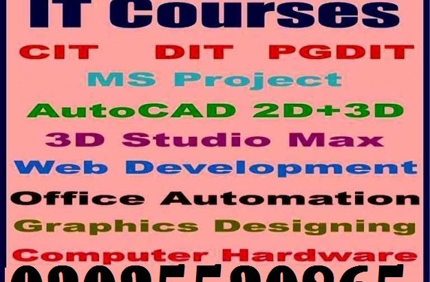 Basic Computer, DIT, CIT, PG-DIT, Software Engineering Web Developments, Graphic Designing