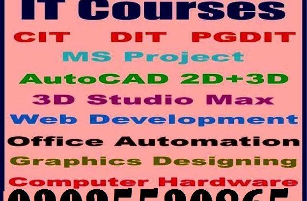 Basic Computer, DIT, CIT, PG-DIT, Software Engineering Web Developments, Graphic Designing