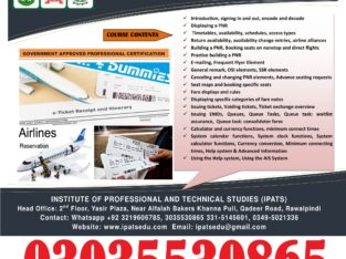 Air Ticketing Training Course in Rawalpindi In Islamabad