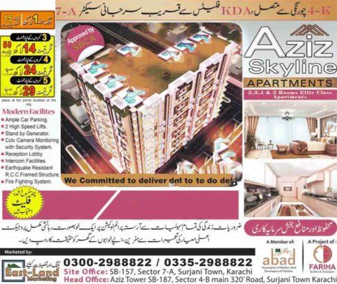 2/3/4/5 Rooms Elite Class Apartment | Easy installment