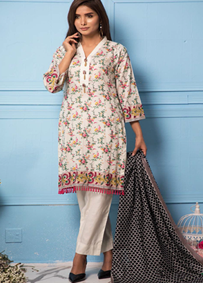 Rang Reza Printed Lawn 3 Piece Suit Collection Vol .3