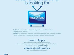 JOBS   Indus News Channel English.Apply Now
