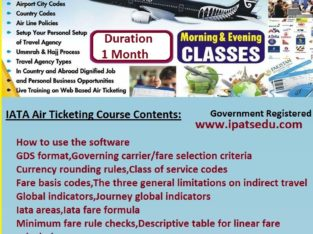 Airlines Reservations, eTicketing & PNR Management Training Course Rawalpindi