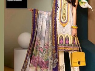 Anaya Lawn with Crinkle Dupatta Neckline Emb Trouser.Delivery All Pakistan