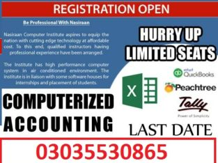 Computerized Accounting Software-Quick Book, Tally, Peach Tree –
