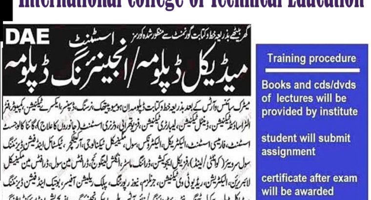 Mechanical Engineering Experienced Based Diploma Rawalpindi Peshawar Quetta