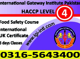 HACCP Food Safety Management Advance Course In Islamabad