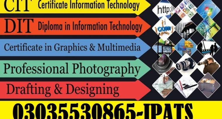 CIT,DIT,PTC,CT Courses in Rawalpindi Pakistan