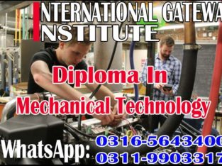 Diploma in Mechanical Technology Course in Attock O3165643400