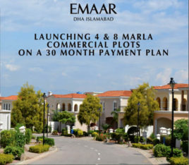 EMAAR DHA Phase 5 Islamabad.4 & 8 Marla Commercial Plots On Installments