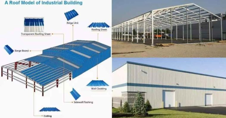 Industrial Shed,Roof Steel,Prefabricated Warehouse,Designs Sloping