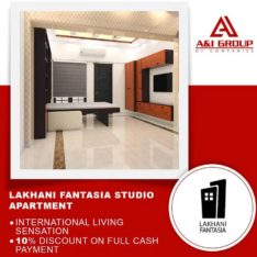 Fully Furnished Studio Apartments.Lakhani Fantasia On Easy Installment