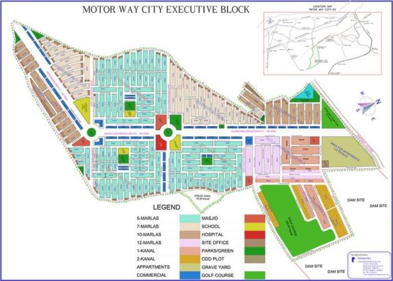 Motorway City Executive Block.Residential Plots On Installment.Best Location