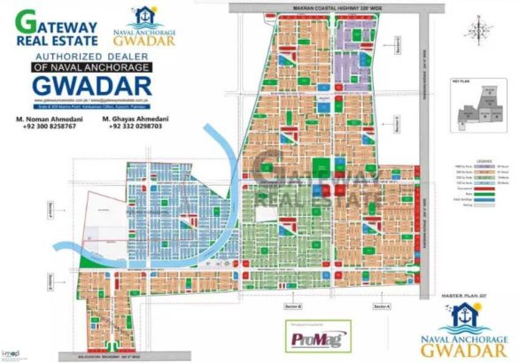 Naval Anchorage Gwadar.500/250/125 Sq Yards Plots.Full Paid Transfer Files