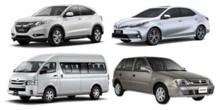 New Model Honda /Toyota Corolla & Hiace /Cultus On Rent.Weekly & Monthly