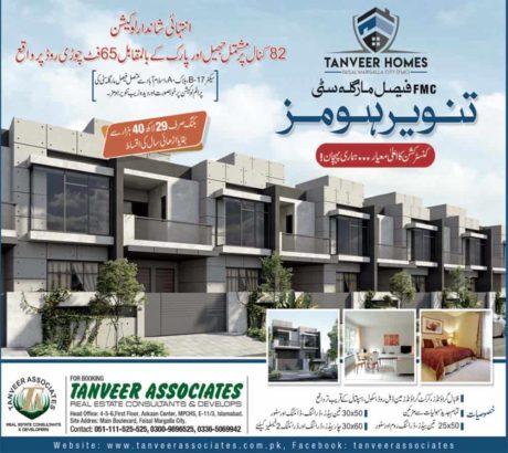 Tanveer Homes Faisal Margalla City.Luxury Location.Easy Installments