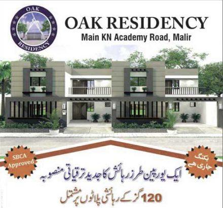 European Style Residential Project.120 Yards Plots Oak Residency Malir karachi