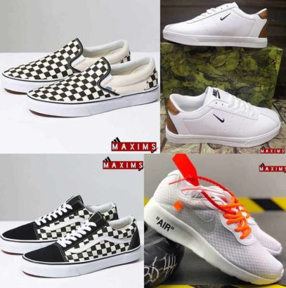 Lacoste   Vans   Nike Air   Jump.Different verities of Shoes Available
