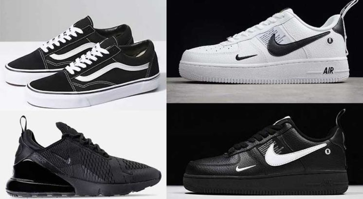 Lacoste | Vans | Nike Air | Jump.Different verities of Shoes Available