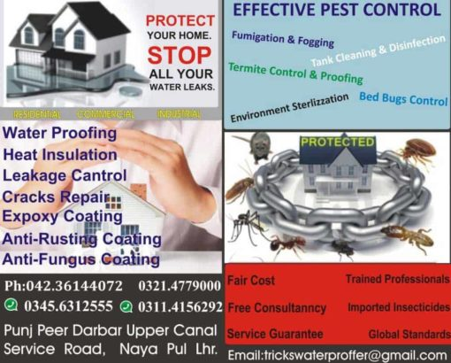 Protect Your Home.Stop all your water Leaks   Effective Pest Control