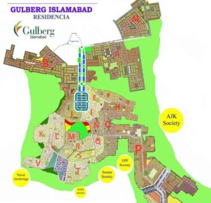 7 Marla Residential Plots For Sale.J-block Gulberg Residencia Islamabad